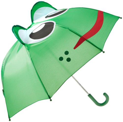 Western Chief Little Boys' Frog Umbrella, Green, One Size front-1066045