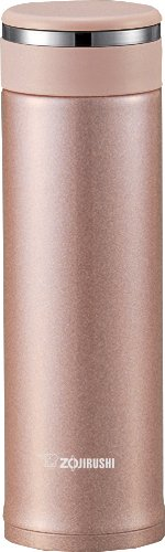 Zojirushi SM-JTE46PX Stainless Steel Travel Mug with Tea Leaf Filter, 16-Ounce/0.46-Liter, Pink Champagne