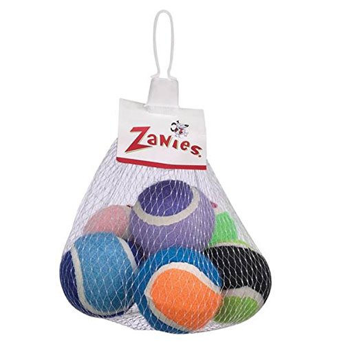 Zanies Tennis Minis Dog Toy, 2-Inch, 6-Pack front-1009518