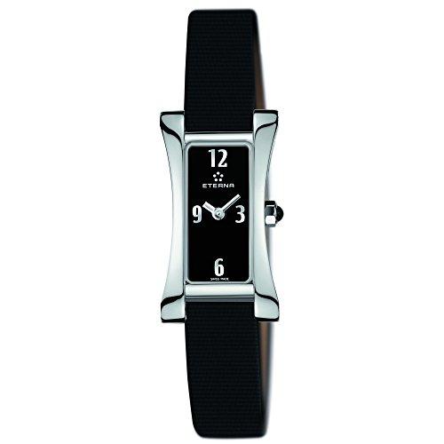 Eterna 2610.41.40.1374 Montre bracelet Femme, Cuir, couleur: noir