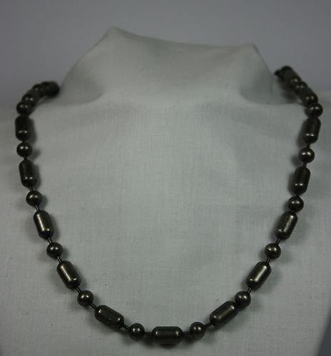 50,8 cm da donna da uomo in metallo color argento collana, fermaglio sferico per facilità di apertura