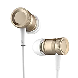 ROCK Mula Stereo In-The-Ear Headset Earphones Headset with High Performance Mic and Low Distortion for iPhone6/iPhone6 Plus Samsung Android ROSE GOLD