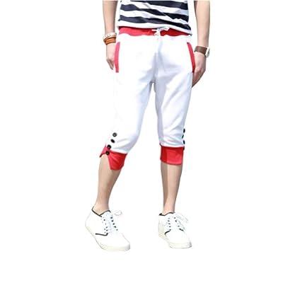 Meilaier Men's Casual Shorts Harem Pants Jogging Sweatpants