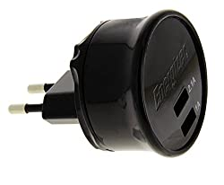 Energizer Dual USB Wall Charger 3.1 AMP BLACK