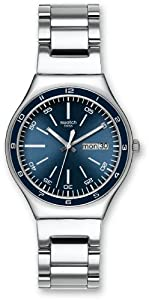 swatch Men's YGS751G Quartz Stainless Steel Blue Dial Watch