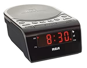 RCA RC5610 CD Clock Radio with Stereo Speakers (Black)