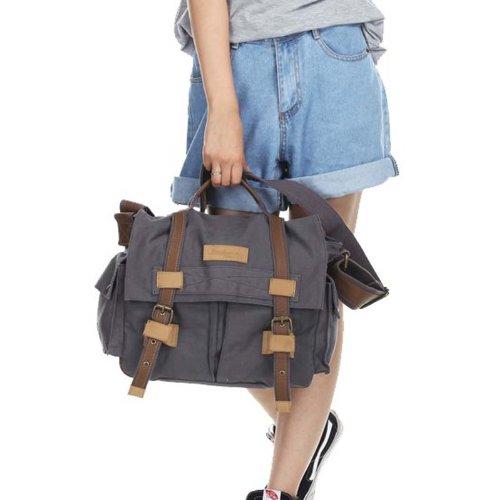 New Win8Fong Gray Canvas Dslr Camera Bag Shoulder Messenger Bag For Sony Canon Nikon Bbk-3
