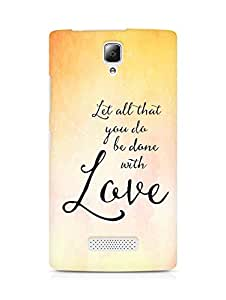 AMEZ let all that you do be done with love Back Cover For Lenovo A2010