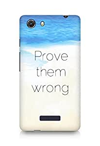 AMEZ prove them wrong Back Cover For Micromax Unite 3