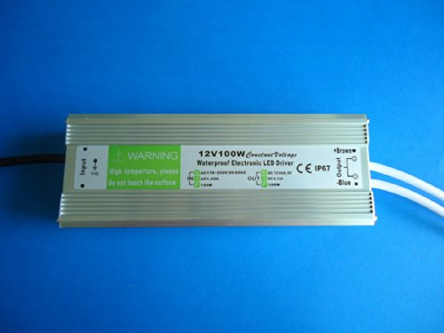 E-Age Ip67 Led Driver Waterproof 100 Watt, Led Driver Power Supply 12 Volt 8.3Amp Dc Output