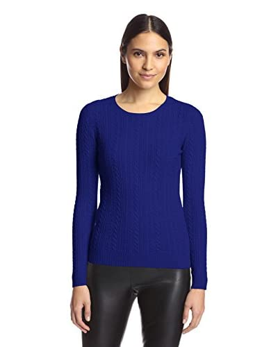 SOCIETY NEW YORK Women's Cable Crew Neck Sweater