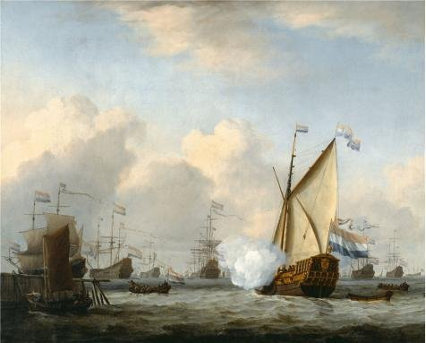 oil-painting-william-van-de-velde-the-youngermarine-view1668-10-x-12-inch-25-x-32-cm-on-high-definit