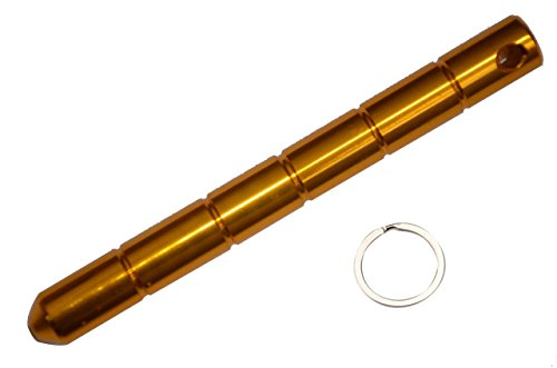 Kubaton Keyring aluminum Blunt Force in Black, Self Defense Weapon for Women Ladies Girls (Gold)