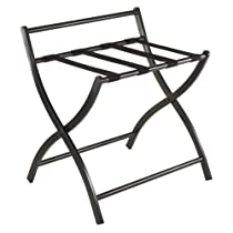 Winsome Legrand Folding Luggage Rack, Black Finish