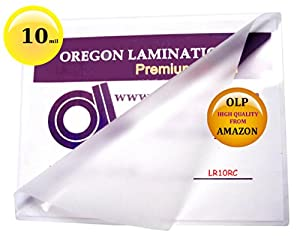 10 mil Letter Laminating Pouches 9 x 11-1/2 Hot Qty 50