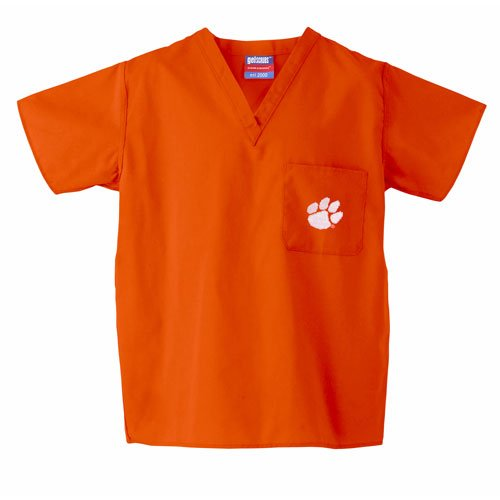 Clemson Tigers NCAA Classic Scrub 1 Pocket Top (Orange)