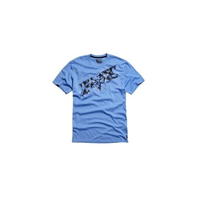 Fox Racing Inert Mens Short Sleeve T Shirt Blue/Black MD Automotive