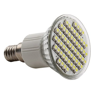 E14 3.5W 60X3528 Smd 150-180Lm Natuaral White Light Led Spot Bulb (230V)