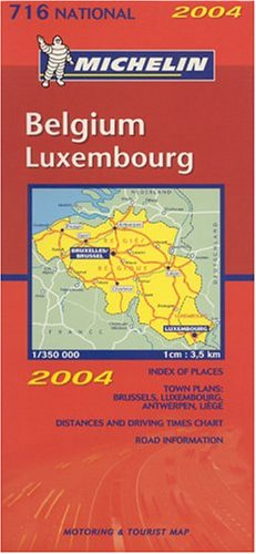 Belgium, Luxembourg (Michelin National, No. 716) (Multilingual Edition)