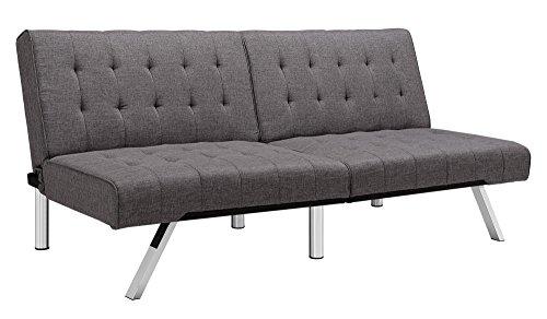 Sensational Dhp Sofas Couches Emily Convertible Linen Futon Living Room Ibusinesslaw Wood Chair Design Ideas Ibusinesslaworg