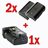 Meike Pro Battery Grip for Pentax K-5 and K-7 Replaces D-BG4 + 2 x Pentax D-Li90 Compatible Battery Pack