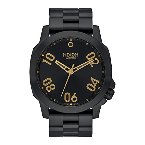 nixon-ranger-45-color-all-black-gold-size-one-size