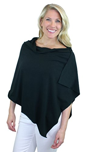 Bamboobies Chic Nursing Shawl - Nursing Cover for Maternity and More, Black