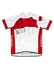 Monaco Flag Short Sleeve Cycling Jersey for Women