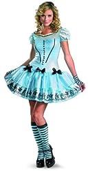 Disguise Women's Alice in Wonderland Sassy Dress Costume