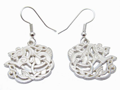 Sterling Silver Celtic Horse Earrings