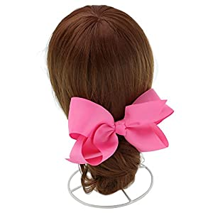 QingHan Baby Girl Grosgrain Ribbon 6'' Large Boutique Hair Bows Alligator Clips For Teens Kids Pack Of 20