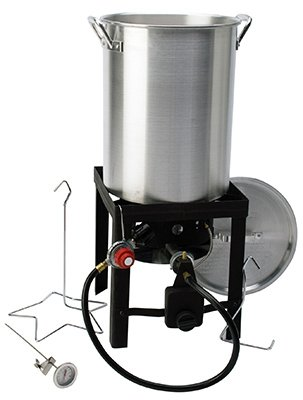 Rankam (China) Mfg TF2005101-KK Turkey Fryer Pot & Lid, Aluminum, 3-Qts.