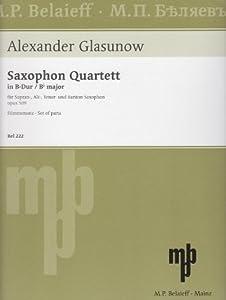 Saxophone Quartet. For Soprano Saxophone, Alto Saxophone, Tenor Saxophone, Baritone Saxophone. Advanced.