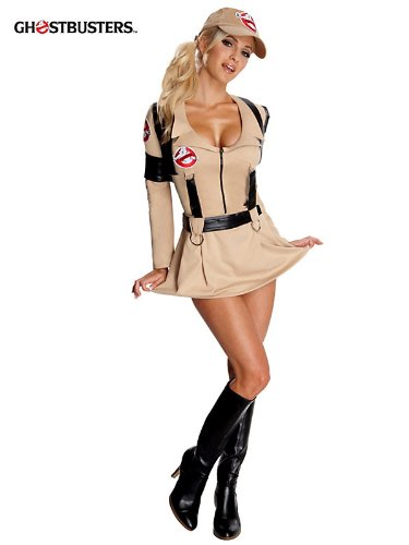 Rubie's Costume Co Rubies Sexy Womens Ghostbusters Halloween Costume Dress