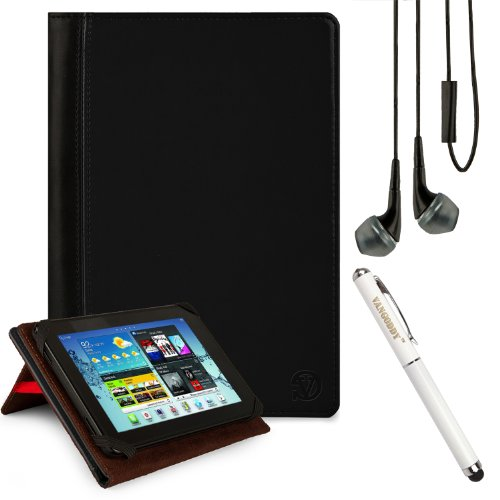 Mary Cover Portfolio Travel Case For Datawind Ubislate 7C+, 7Ci, 7Cx, 9Cx, 7Cz, 3G7 7-Inch Tablet + Handsfree Earphones + Stylus Pen