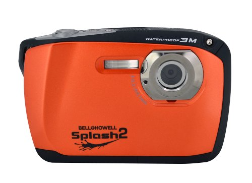 Bell+Howell Splash Ii Wp16-O 16Mp Waterproof Digital Camera With 2.5-Inch Lcd Screen (Orange)