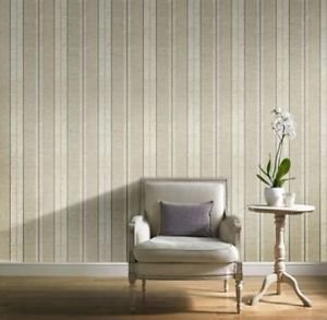Gran Deco Atelier Stripe Wallpaper - Neutral by New A-Brend