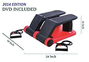 Buy Air Stair Stepper Cardiovascular Climber + Resistance Band + Meal Plan + DVD + Calorie time distance Counter by Boyce