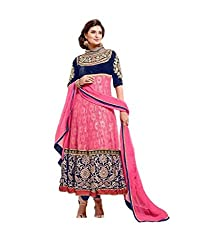 Decent World Pink Rasel Net Exclusive Dress Material