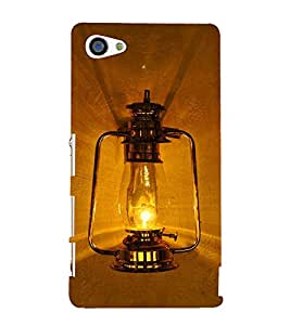 Black Electric lantern 3D Hard Polycarbonate Designer Back Case Cover for Sony Xperia Z5 Compact :: Sony Xperia Z5 Mini