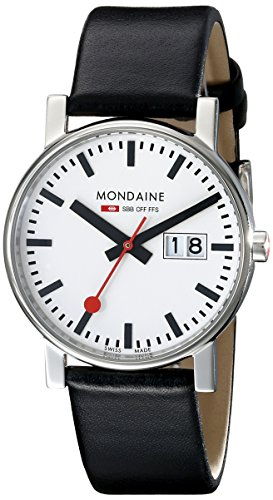 Mondaine - A669.30300.11SBB - Montre Homme - Quartz - Analogique - Bracelet Cuir Noir