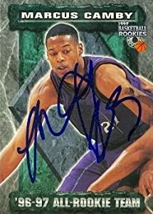Marcus Camby Autographed Hand Signed Basketball Card (Toronto Raptors) 1997 Score... by Hall of Fame Memorabilia