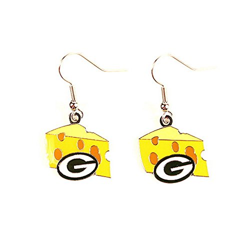 Green Bay Packers NFL Cheese Head Dangle Earrings by NFL (Packer Cheese Heads compare prices)