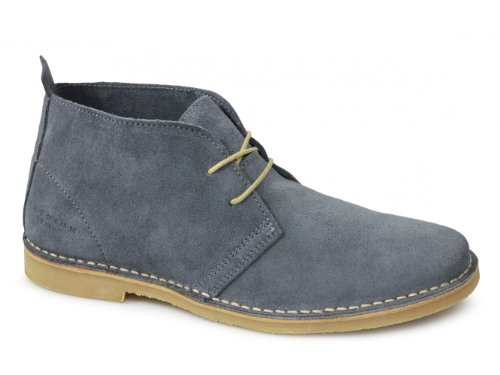 Jack & Jones GOBI Mens Suede Leather Desert Boots Provincial Blue