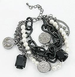 JD014 Multi Color 7Row, White Freshwater Pearl,
