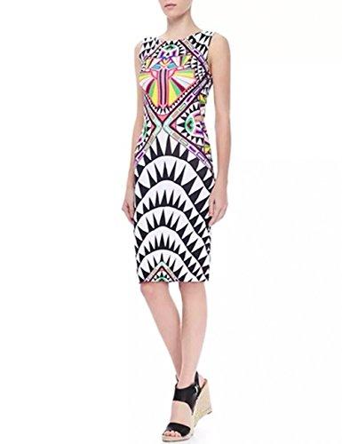 dragonpad-womens-digital-printing-totem-round-collar-sleeveless-slim-dress-white-l