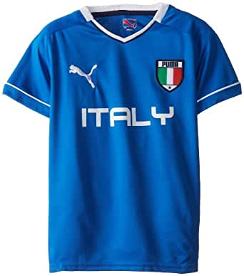 PUMA Big Boys' Italy T-Shirt, Olympian Blue, Small