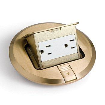 Lew Electric Complete 6 Brass Pop Up Floor Box W Rec Pufp