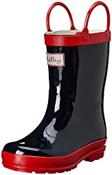 Hatley Little Boys\' Rainboots Navy with Red, Blue, 7