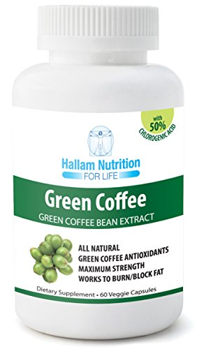Green Coffee Bean Extract - 100% Pure Green Coffee Bean Extract (Clinically Proven Quality And Dose) Weight Loss Formula With 800Mg Green Coffee Antioxidants ★ Chlorogenic Acid ★ 60 Count ★ Naturopath And Nutritionist Formulated Fat Burner - Natural Weigh
